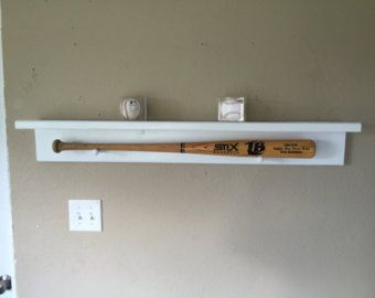 Wooden Baseball & Bat Holder Rack Display by SoniaNSpice on Etsy