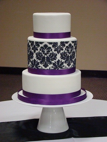 Black and Purple Wedding Cakes
