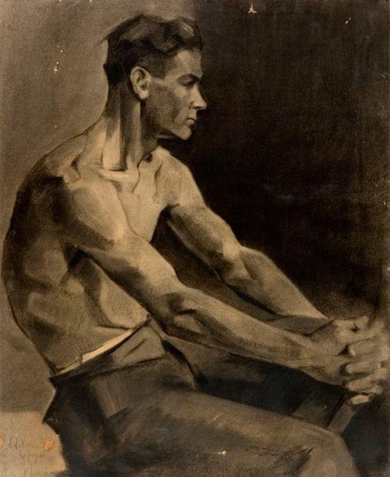 Nikos Nikolaou, 1929 - Male figure