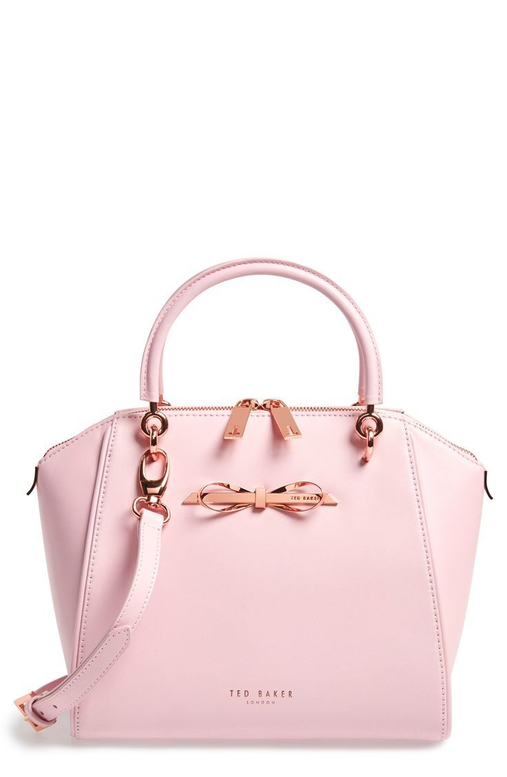 Obsessed with the rose gold bow and hardware on this pink Ted Baker tote.