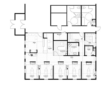 1000 images about healthcare medical office on pinterest medical office design dental for Orthodontic office design floor plan