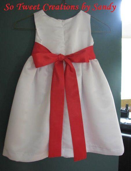 Flower girl dress (back(