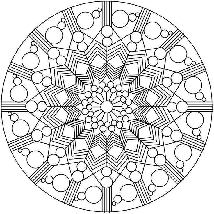 25 best ideas about image mandala on pinterest pages de coloriage mandalas zentangles and - Mandala adulte ...