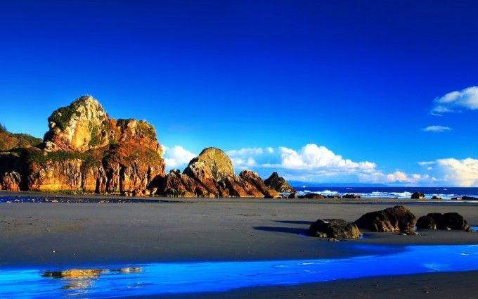 Rocks Beach Stones Ocean Wallpaper