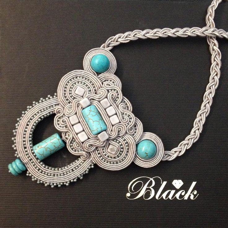 #handmade #handmadejewelry #wisior#soutache #sutasz