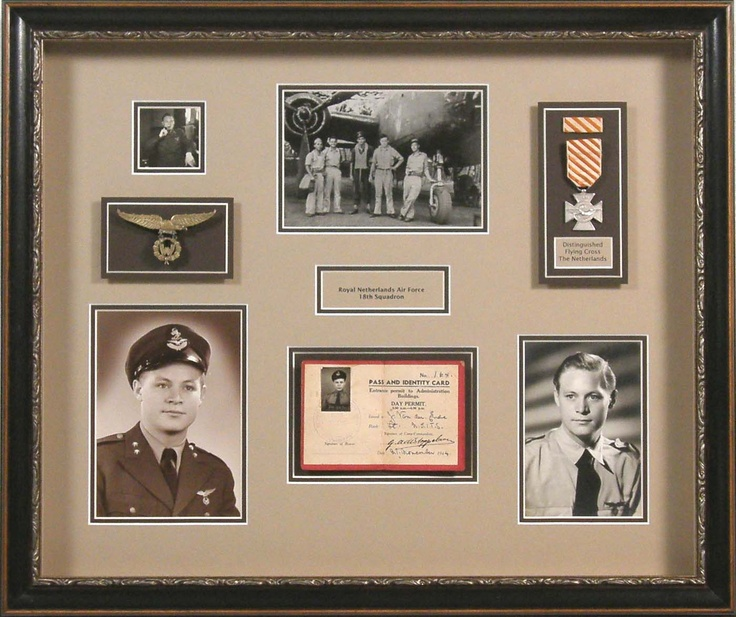 Bradley's will design the perfect shadowbox to compliment any military memorabilia. Include as many photos as possible to tell the whole story.