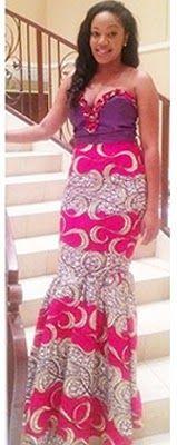 Ankara Long Gown Style
