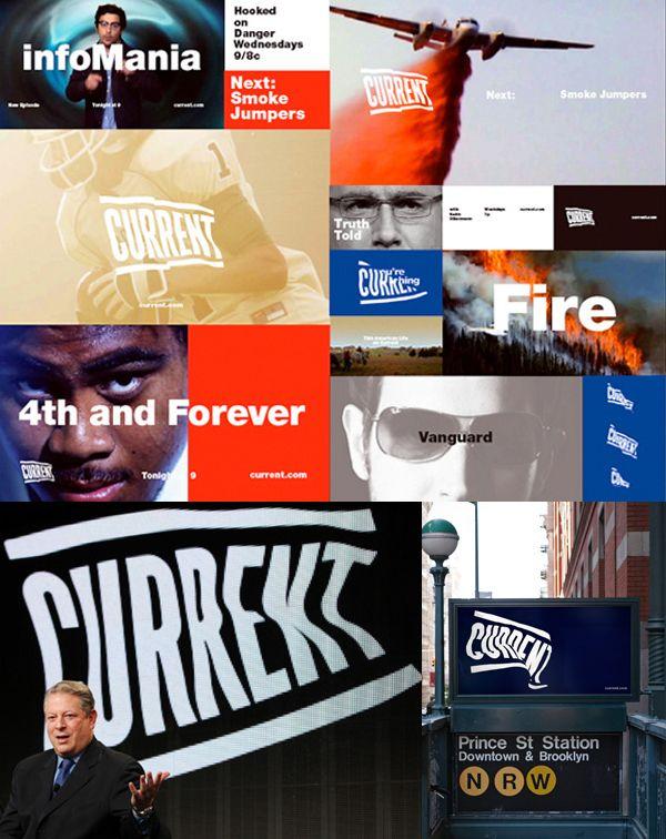 Current TV Identity by Derek Lerner, via Behance. This kind of logo looks inspiring
