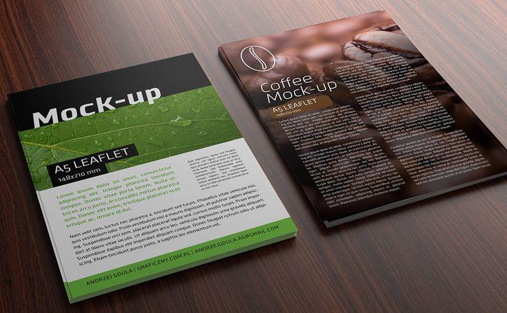 Mock-up – Ulotka / Leaflet – A5