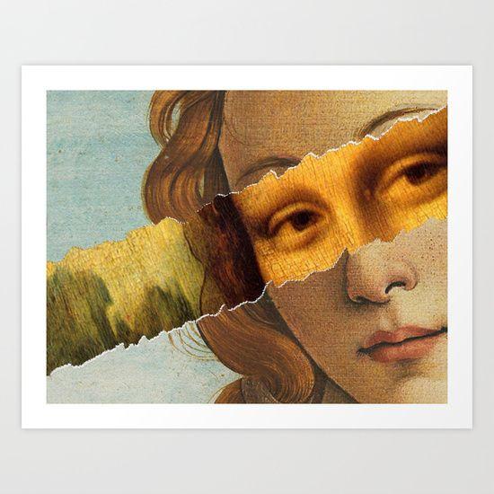 Botticelli's Venere + Leonardo's Gioconda