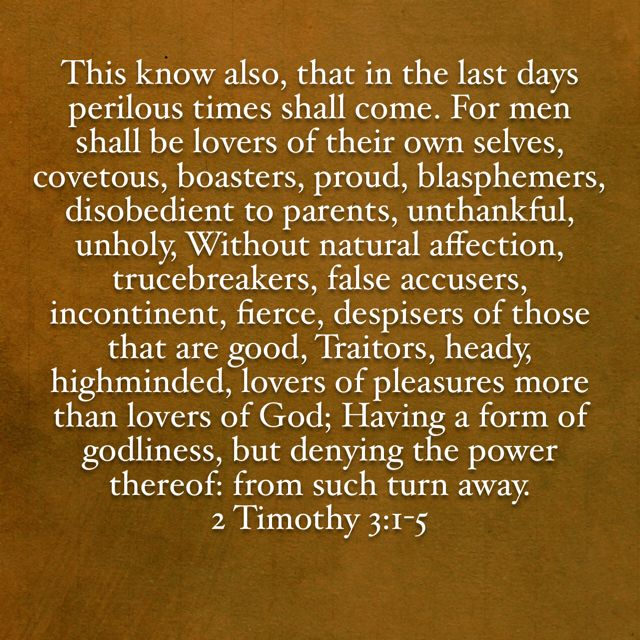 2 Timothy 3:1-5 KJV