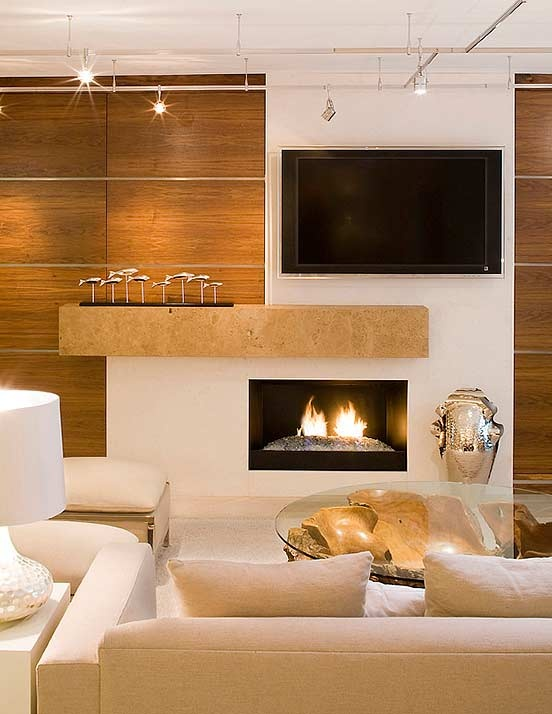 If you must have a TV above your fireplace, I like this layout!