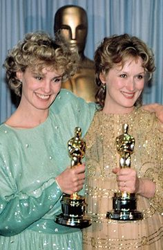 Jessica Lange - Best Supporting Actress for Tootsie and Meryl Streep - Best Actress for Sophie's Choice, 1982