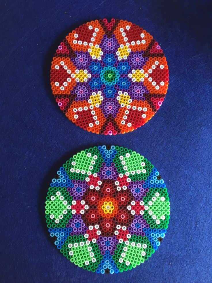 Mandalas hama beads by Ana Yang