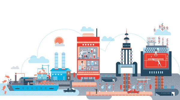 Illustration: IBM by The Design Surgery , via Behance