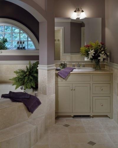 mauve: Wall Colors, Bathroom Design, Bathroom Colors, Purple Bathroom, Cream Bathroom, Master Bedrooms, Bathroom Ideas, Traditional Bathroom, Lavender Bathroom