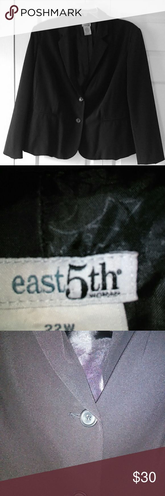 Ladies Black Blazer Excellent Used Condition East 5th Jackets & Coats Blazers