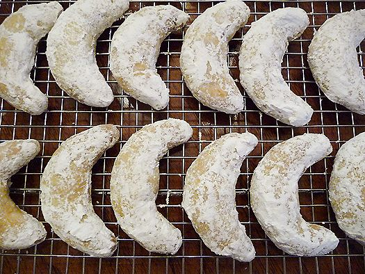 Nut Crescents- My italian ex-mother in law always made these and they're just lovely