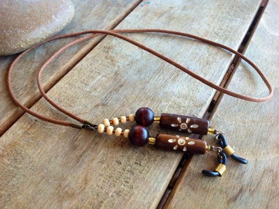 brown ethnic eyeglasses chain,eyeglass lanyard,eyeglass necklace,eyeglasses cord