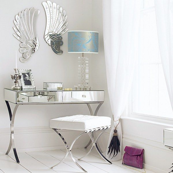 Barcelona Dressing Table love the angel wing mirrors. 48 best Mirror Furniture images on Pinterest   Mirror panels  3d