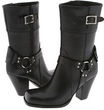 Harley Davidson Shoes Women's Boots Hot Harley Leather Motorcycle Biker Style Boots Picture