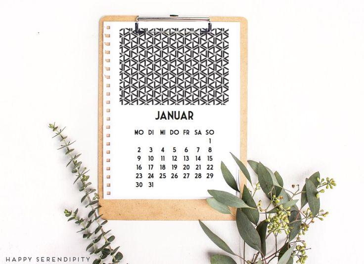 hallo neues jahr – kalender 2017 freebie