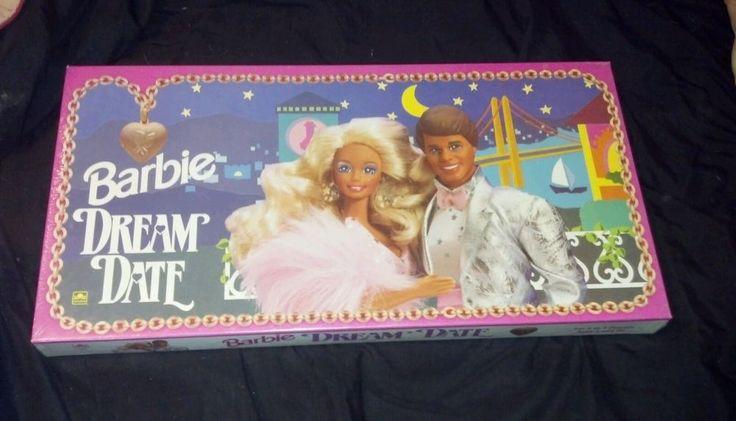 Vintage 1992 Classic Golden Barbie Ken Dream Date Board Game New In Box #Golden #BoardGame