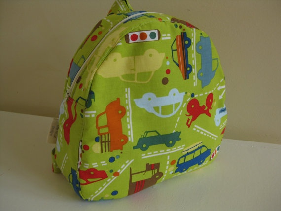 Beep beep vehicles Toddler Backpack by LittleFawnDesigns on Etsy, $35.00  'I heart #littlefawndesigns'