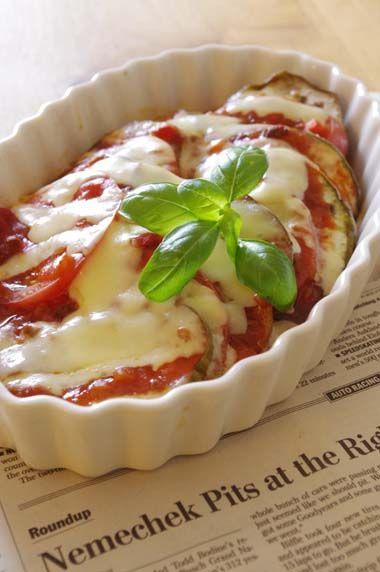 トロなすとトマトのミートソースdeトースター焼き☆ | 美肌レシピ トロなすとトマトのミートソースdeトースター焼き☆
