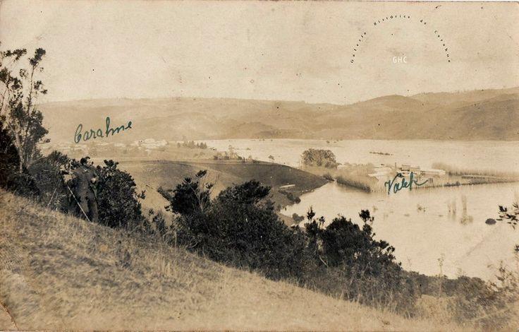 #GaleríaHistóricaDeCarahue:  Historia Luvial y Cultura Ribereña. La gran inundación de 1922.  Postal Gentileza Trinidad Pereira y Familia.-------- #ghc #carahue #memoria #patrimonio #patrimoniofotográfico