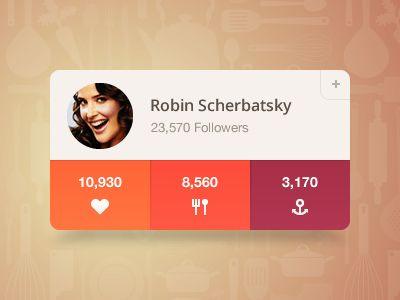 Dribbble - Widget by Tomas Gajar (August Interactive)