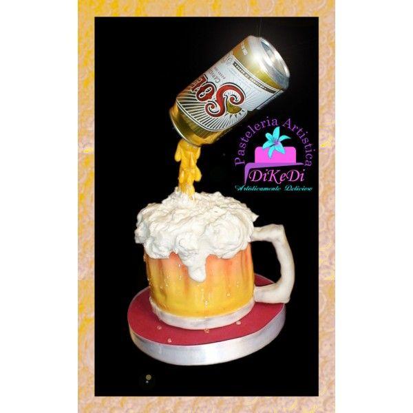 Pastel Tarro de cerveza