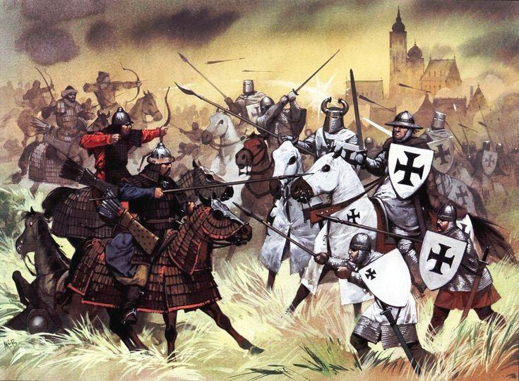 Batalla-de-Liegnitz-1241-Mongoles-vs-Orden-Teutónica