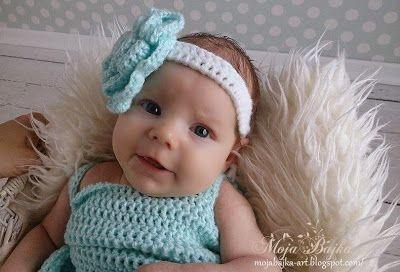 Czapki na szydełku dla dzieci: Śliczna sukienka na szydełku  do chrztu i nietylko...