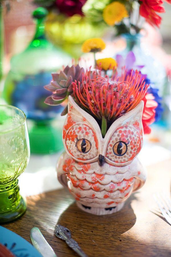 owl vaseWedding Inspiration, Owls Vases, Owls Rules, Butterflies Petals, Owls Barns, Flower Pots, Pretty Owls, Barns Owls, Owls Flower