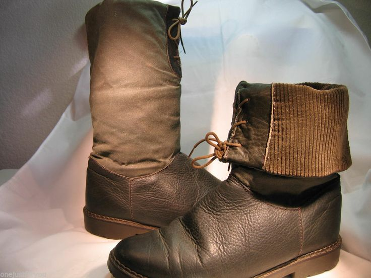 Leather English Draper of Glastonbury 9 Med Boots Rubber Soles Corduroy  Cuffs