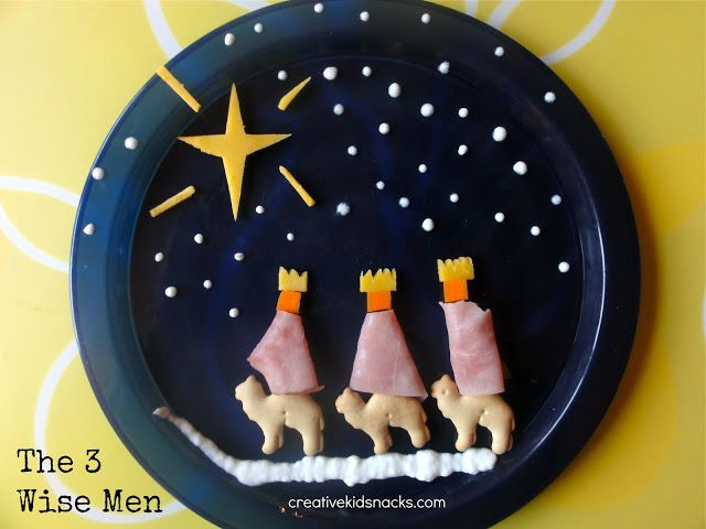 Cute snack for the story of Wise Men bringing gifts to Jesus. http://missionbibleclass.org/1b0-new-testament/new-testament-part-1/life-of-christ-early/wise-men-and-a-star/