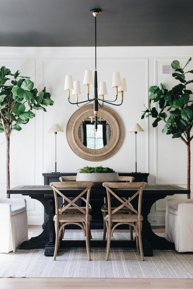Dream Home A Refined Rustic Modern Farmhousebecki Owens White Dining Room Dining Room Decor Modern Dining Room