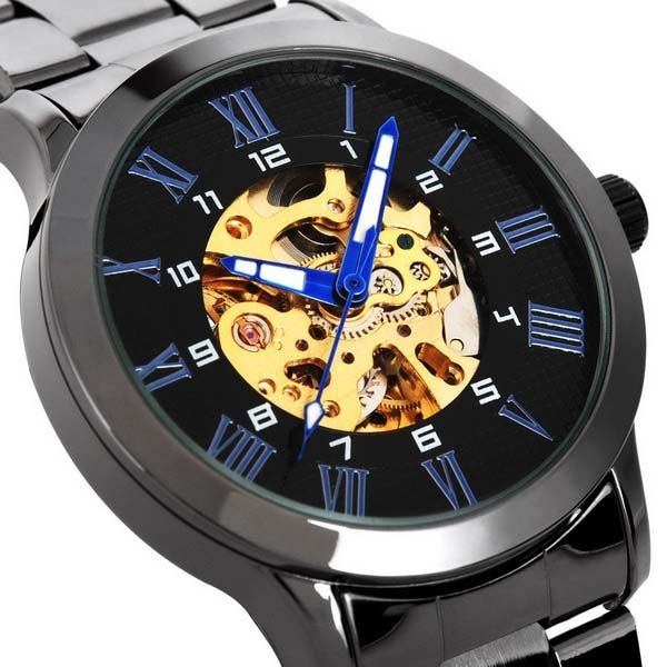 Men's Mechanical Wrist Watch, elegant design with precise automatic mechanical movement. Automatic winding mechanical movement, lets you wear the watch anytime. It's a nice choice to buy this fashion and practical watch.
