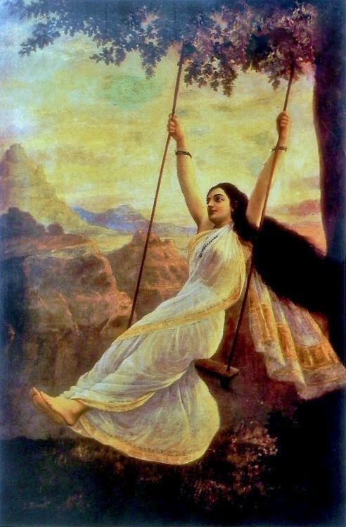 """""""Mohini"""" -Raja Ravi Varma Verma (Lithograph)"""