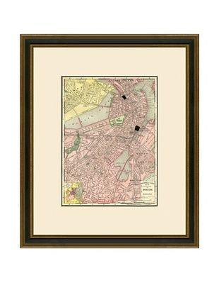 50% OFF Antique Lithographic Map of Boston, 1886-1899