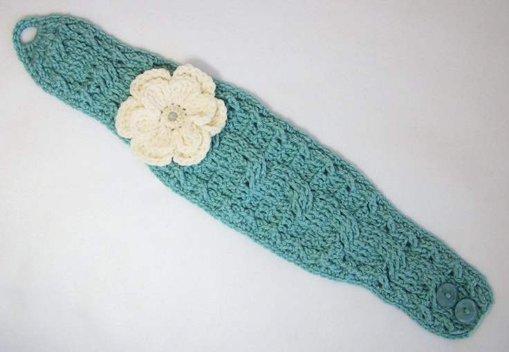 New Twist Headband with Two Layered Flower (pic 2)