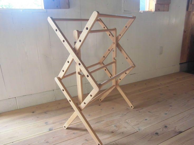 折り畳み式タオルラック(受注制作)の画像1枚目