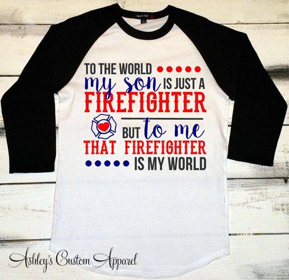 Firefighter Mom Shirt, Firefighter Tshirt, Proud Mom Shirts, I Love My Firefighter, Fire Mom, Maltese Cross, I Raised a Hero, Fireman Shirt  by AshleysCustomApparel