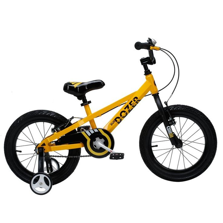 Royalbaby Bull Dozer Fat Tire kids bike, 16 inch, All-Terrain Boy's bike for energetic kids, BURLY kid's bike with training wheels and kickstand, 2017 newly-launched, Yellow