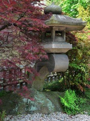 Lantern In Japanese Stone Garden, Tokyo