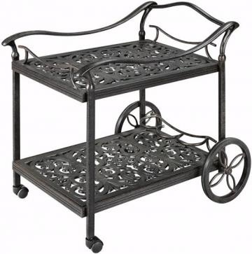 This looks a little nicer than the tea cart I made my mother in welding class in high school - yikes! Sorry Mom :)
