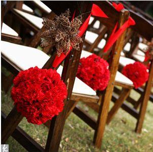 Decorações de casamento em vermelho.   Casar é Fácil - O Blog da cerimonialista Emanuelle Missura