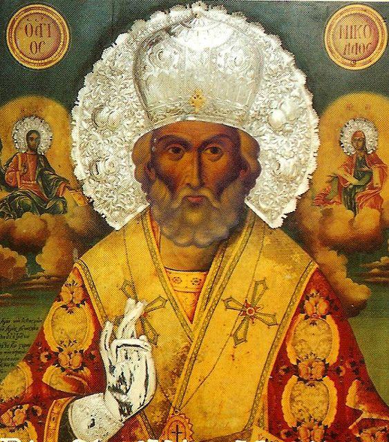 Ο Άγιος Νικόλαος, δια χειρός Ιωάσαφ μοναχού Καρεώτου, στον Πολύγυρο Χαλκιδικής