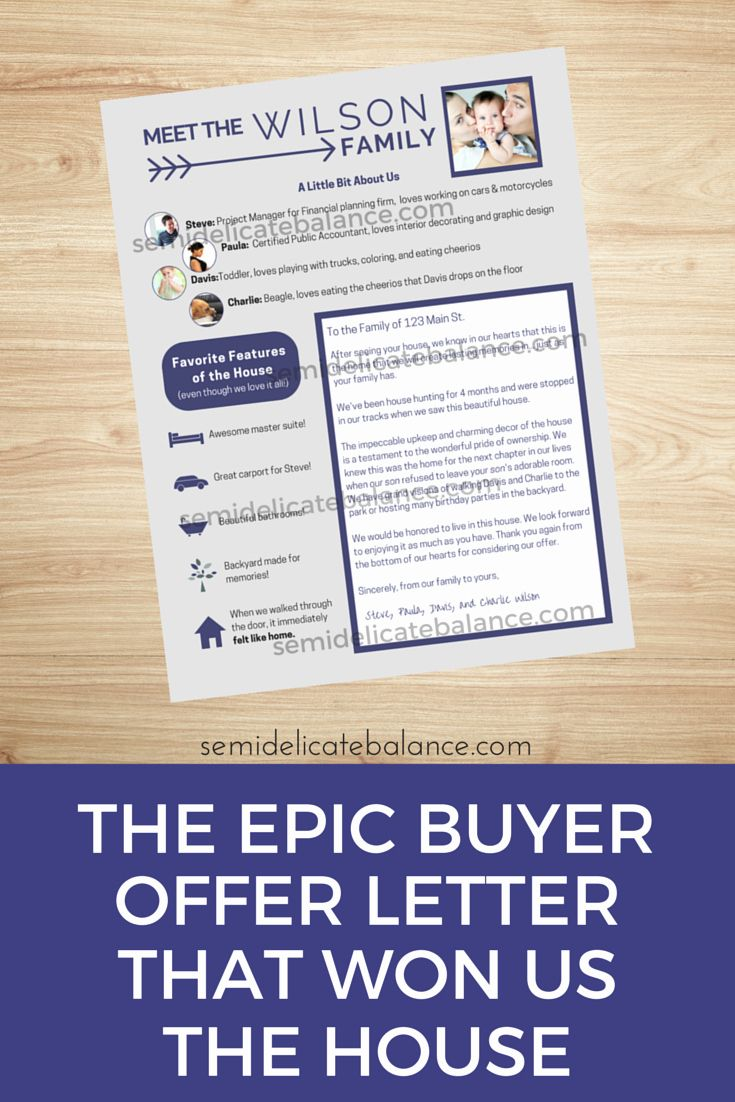 Sample Letter To Home Seller New The Epic Buyer Fer Letter That Won Us The House In 2020 House Letters Home Buying Process Home Buying Tips
